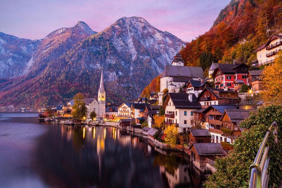 شهر زیبای هال اشتات سوئیس
