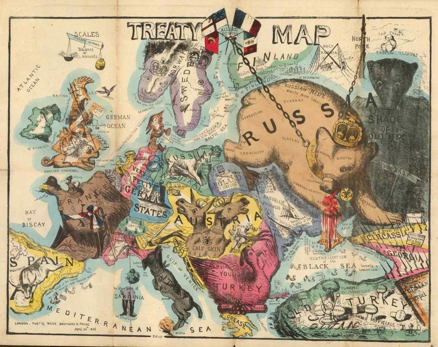 یکی از تصاویر هجوآمیز توماس اونهای از اروپا