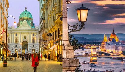 تور ترکیبی اروپا شهرهای بوداپست و وین