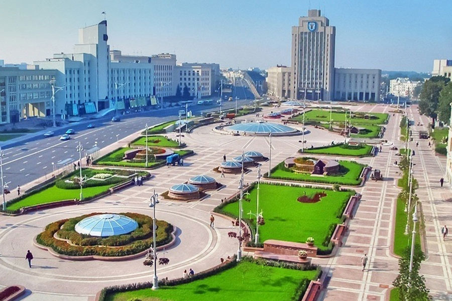 میدان استقلال در شهر مینسک کشور بلاروس