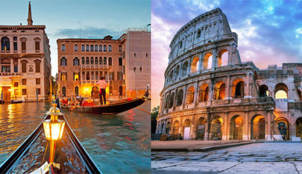 تور ترکیبی ایتالیا شهر های رم و ونیز