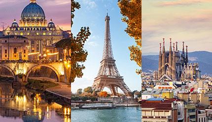 تور ترکیبی رم، پاریس و بارسلون پاییز 99