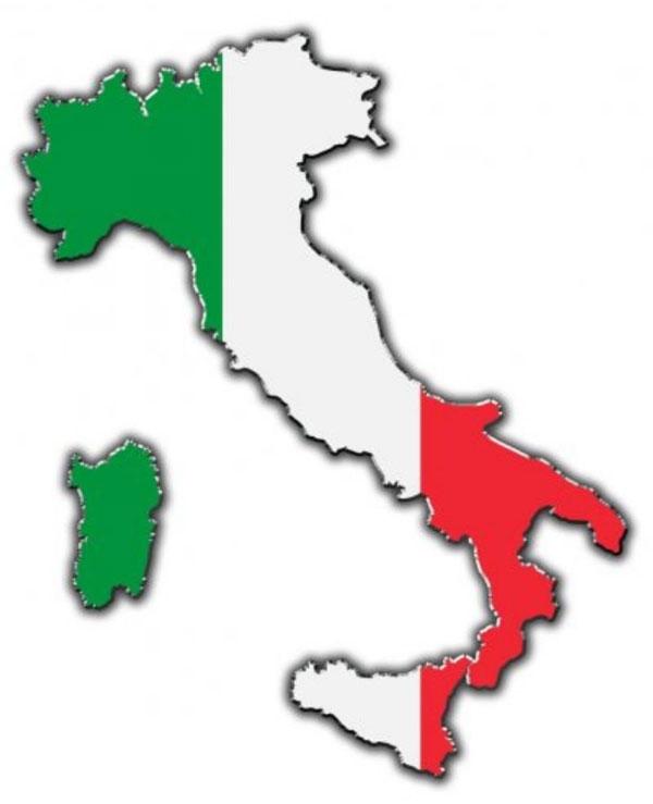 شکل چکمه ای نقشه ایتالیا